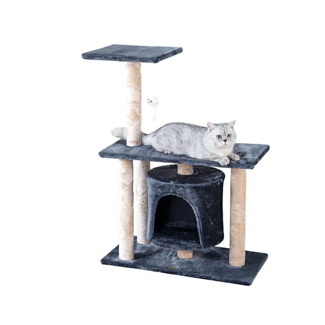"Go Pet Club Gray Cat Tree Condo, 38"" H - Carousel image #1"