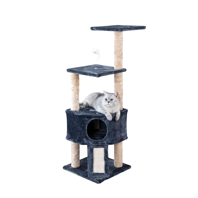 """Go Pet Club Gray 46"""" Cat Tree with Scratching Board - Carousel image #1"""