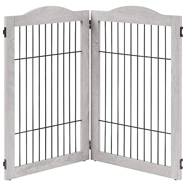 """UniPaws Wire 2 Panel Extension Kit Weathered Gray Pet Gate, 43.94"""" L X 43"""" W X 31.5"""" H - Carousel image #1"""