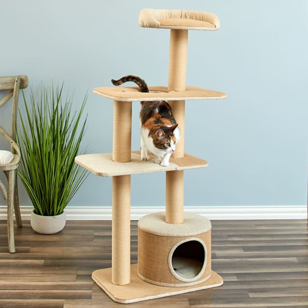 """Two by Two Cottonwood All-in-One Cat Tree/Condo, 15"""" L  X 26"""" W X 51.2"""" H - Carousel image #1"""