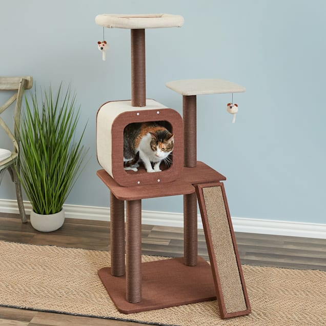 """Two by Two Redwood Cat Tree and Condo, 22"""" L X 30"""" W X 53.4"""" H - Carousel image #1"""