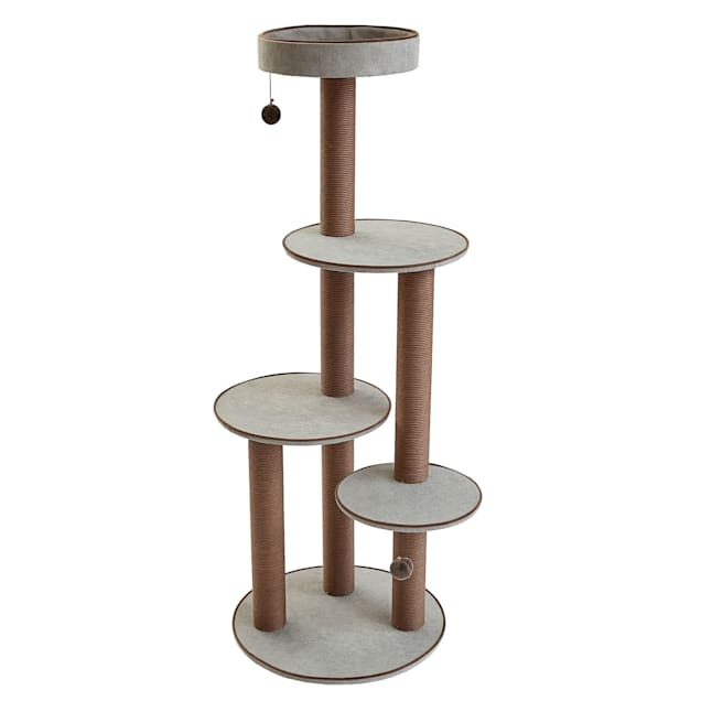 """Two by Two Pine Cat Tree with 4 Platforms & 6 Posts, 25"""" L X 25"""" W X 59.3"""" H - Carousel image #1"""