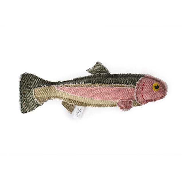 Fetch Pet Products Reely Fish Rainbow Trout Dog Toy, Large - Carousel image #1
