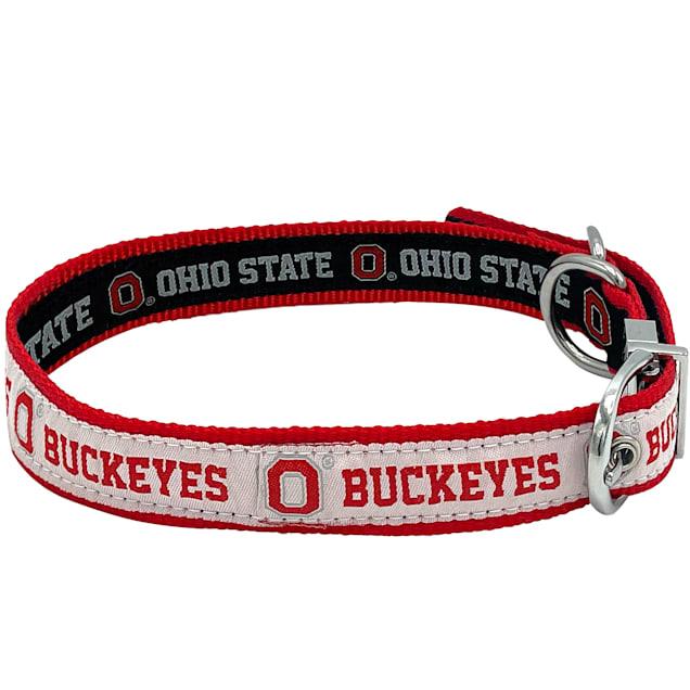 Pets First Ohio State Reversible Dog Collar, Medium - Carousel image #1
