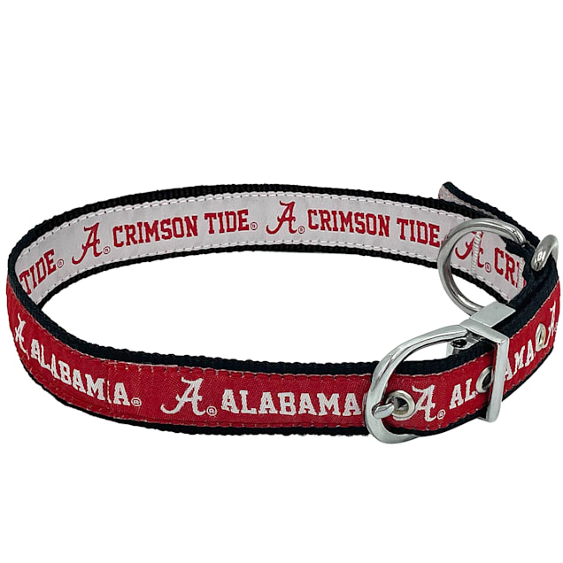 Pets First University Of Alabama Reversible Dog Collar, Medium - Carousel image #1