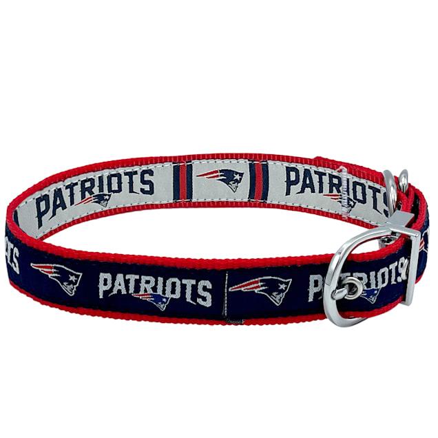 Pets First New England Patriots Reversible Dog Collar, Medium - Carousel image #1
