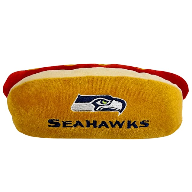 Pets First Seattle Seahawks Hot Dog Toy, Small - Carousel image #1
