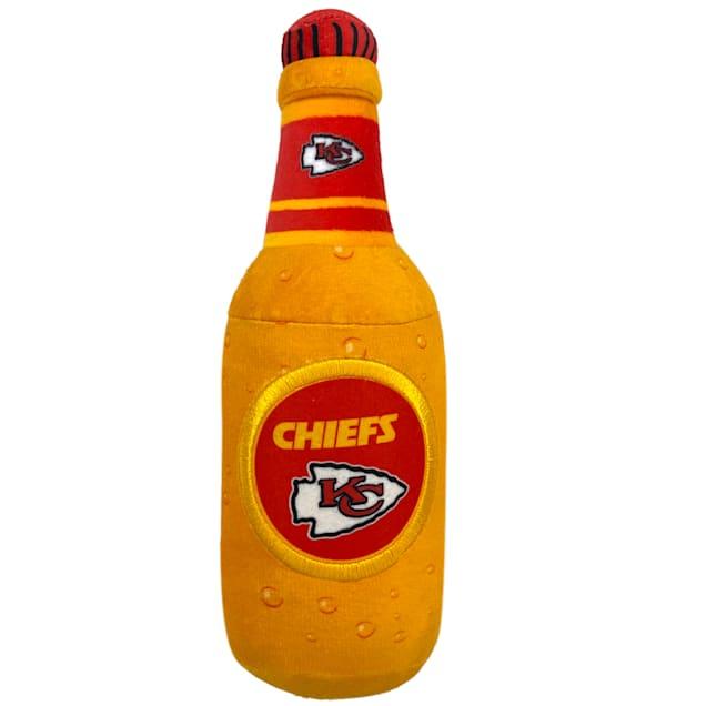 Pets First Kansas City Chiefs Bottle Dog Toy, Medium - Carousel image #1