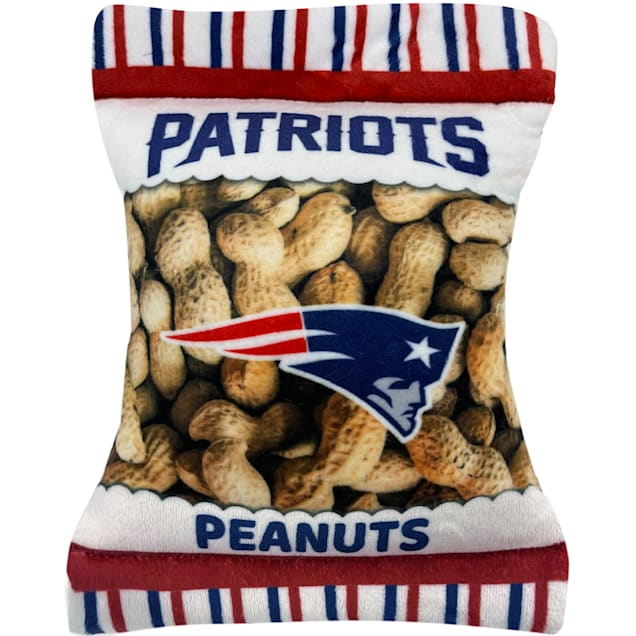 Pets First New England Patriots Peanut Bag Dog Toy, Small - Carousel image #1