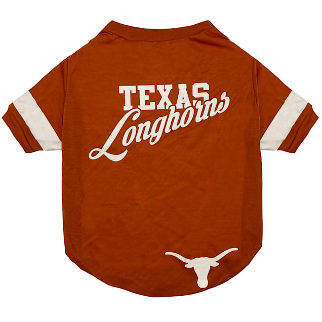 Pets First University of Texas Stripe Tee Shirts for Dogs, Small - Carousel image #1