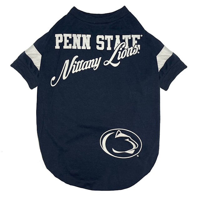 Pets First Penn State Stripe Tee Shirts for Dogs, Small - Carousel image #1