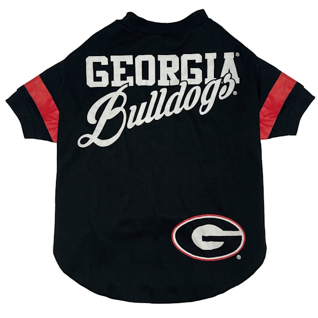 Pets First University of Georgia Stripe Tee Shirts for Dogs, Small - Carousel image #1