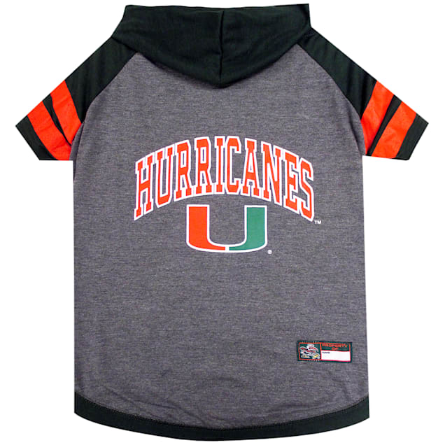 Pets First University of Miami Hoodie Tee Shirts for Dogs, X-Small - Carousel image #1