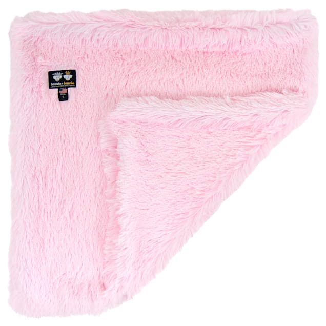 "Bessie and Barnie Bubble Gum Ultra Plush Faux Fur Pet Super Soft Reversible Blanket, 20"" L X 20"" W - Carousel image #1"
