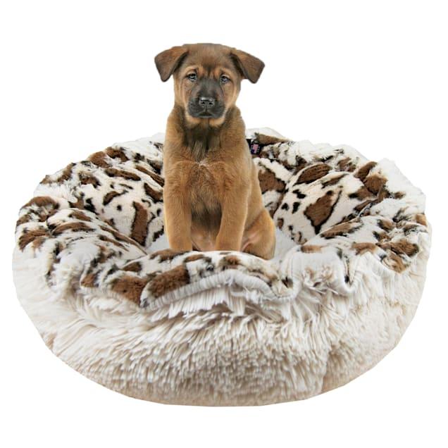 "Bessie and Barnie Ultra Plush Giraffe/Blondie Luxury Deluxe Pet Cuddle Pod Bed, 30"" L X 30"" W X 5"" H - Carousel image #1"