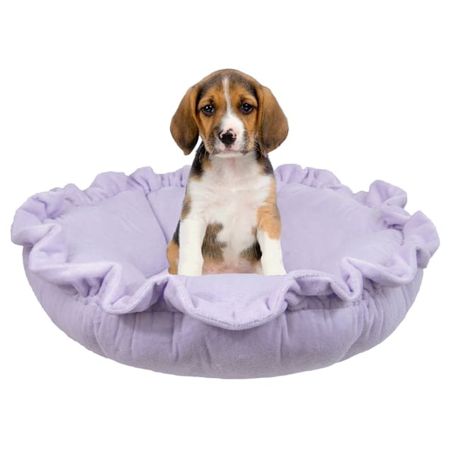 """Bessie and Barnie Ultra Plush Lilac Luxury Deluxe Pet Cuddle Pod Bed, 30"""" L X 30"""" W X 5"""" H - Carousel image #1"""
