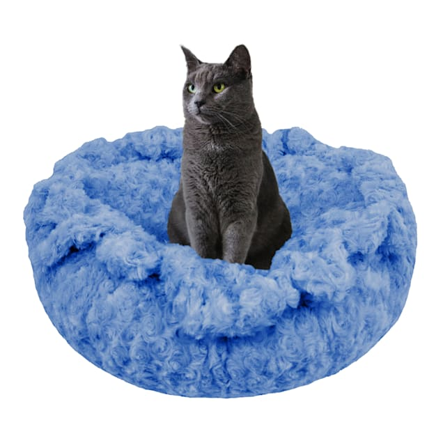 """Bessie and Barnie Ultra Plush Blue Sky Luxury Deluxe Pet Cuddle Pod Bed, 30"""" L X 30"""" W X 5"""" H - Carousel image #1"""