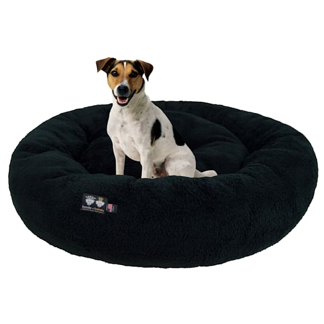 """Bessie and Barnie Ultra Plush Deluxe Comfort Black Snuggle Pet Bed, 23"""" L X 23"""" W X 6"""" H - Carousel image #1"""