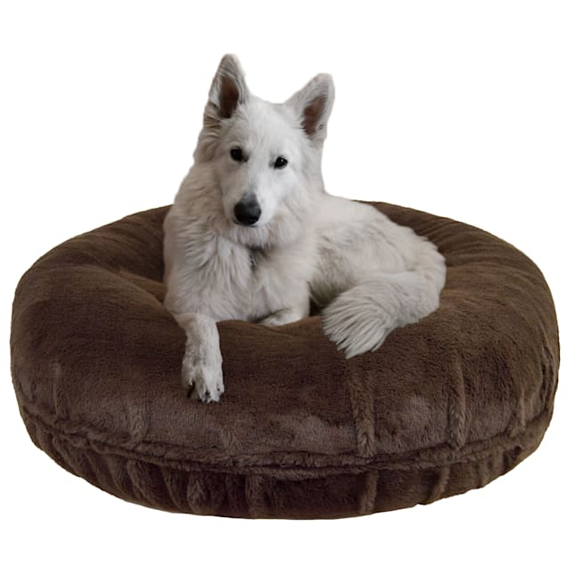 """Bessie and Barnie Signature Brown Fox Luxury Extra Plush Faux Fur Bagel Pet Bed, 24"""" L X 24"""" W X 10"""" H - Carousel image #1"""