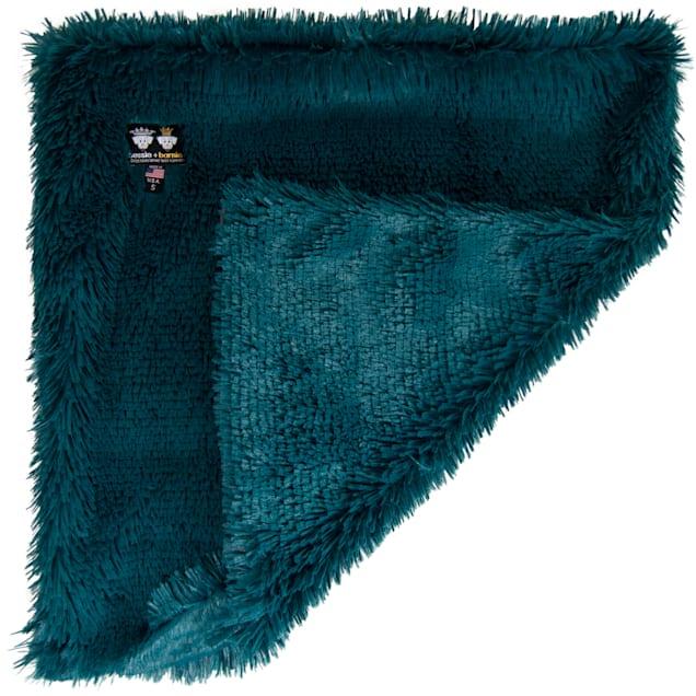 "Bessie and Barnie Wonderlust Ultra Plush Faux Fur Pet Super Soft Reversible Blanket, 20"" L X 20"" W - Carousel image #1"