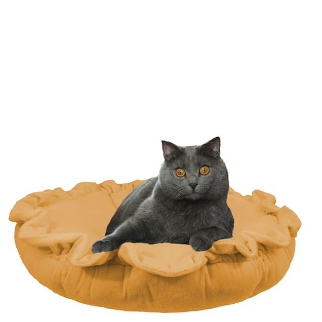 """Bessie and Barnie Ultra Plush Divine Caramel Luxury Deluxe Pet Cuddle Pod Bed, 30"""" L X 30"""" W X 5"""" H - Carousel image #1"""