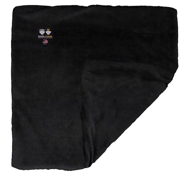 "Bessie and Barnie Short Shag Black Panther Ultra Plush Faux Fur Pet Super Soft Reversible Blanket, 20"" L X 20"" W - Carousel image #1"