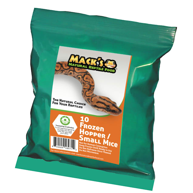 Mack's Natural Reptile Food Frozen Hopper/Small Mouse - 10ct - Carousel image #1