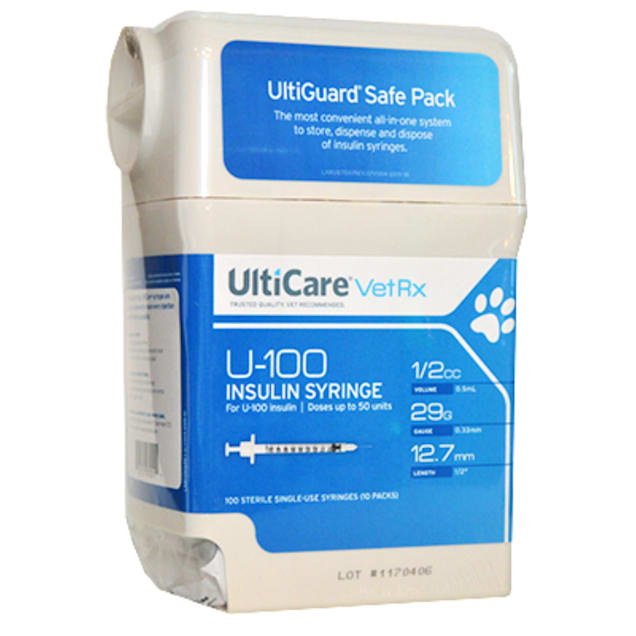 """Ulticare 29-Gauge 1/2"""" .5cc Syringes with Needles, 100 Count - Carousel image #1"""