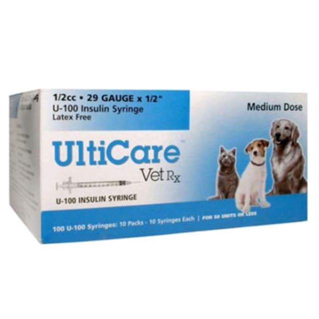 "UltiCare Insulin Syringes 29 Gauge 0.5"" 0.5CC, 100 Count - Carousel image #1"