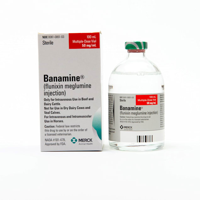 Banamine Injectable Solution 50 mg, 100 mL - Carousel image #1