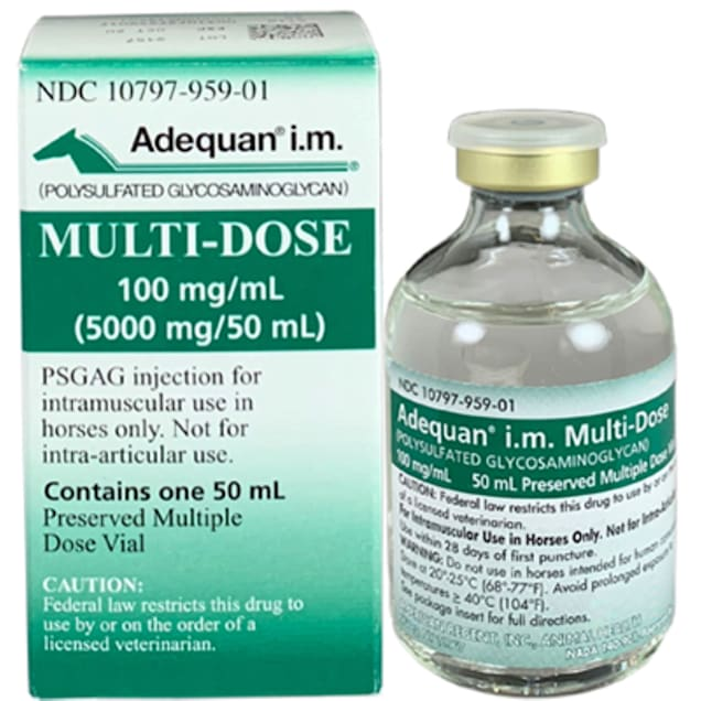 Adequan Equine 50 mL Injectable Solution for Horses, Single Vial - Carousel image #1