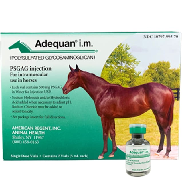 Adequan Equine 5 ml Injectable Solution for Horses, 7 Vials - Carousel image #1