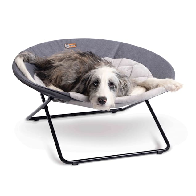 """K&H Classy Gray Elevated Cozy Pet Cot, 30"""" L - Carousel image #1"""