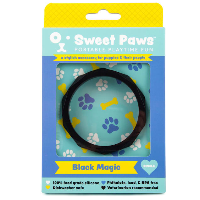 SWEET PAWS Wearable Black Magic Silicone Puppy Teether Chew Toy, Small - Carousel image #1
