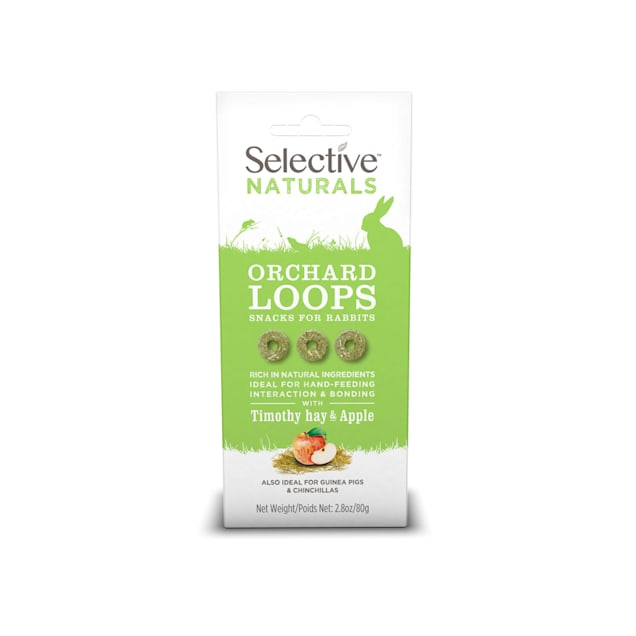 Supreme Science Selective Naturals Orchard Loops with Timothy Hay & Apple for Rabbits, 2.8 oz. - Carousel image #1