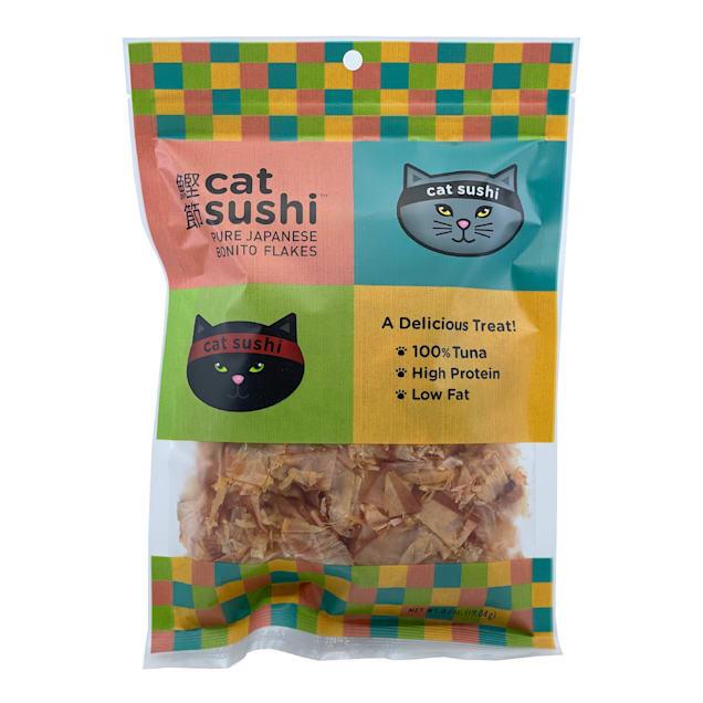 Presidio Natural Pet Company Cat Sushi Bonito Flakes Classic Cut Treats, 0.7 oz. - Carousel image #1