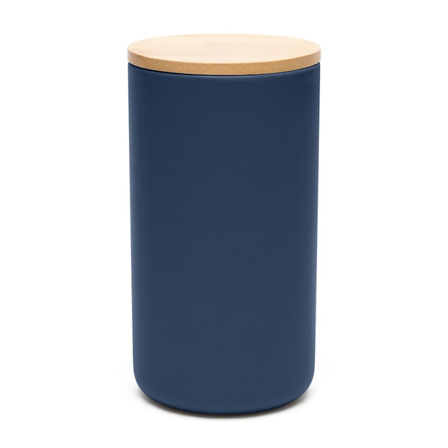 Waggo Royal Blue Simple Solid Dog Treat Jar - Carousel image #1