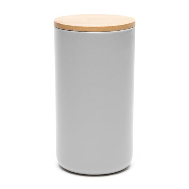 Waggo Light Grey Simple Solid Dog Treat Jar - Carousel image #1