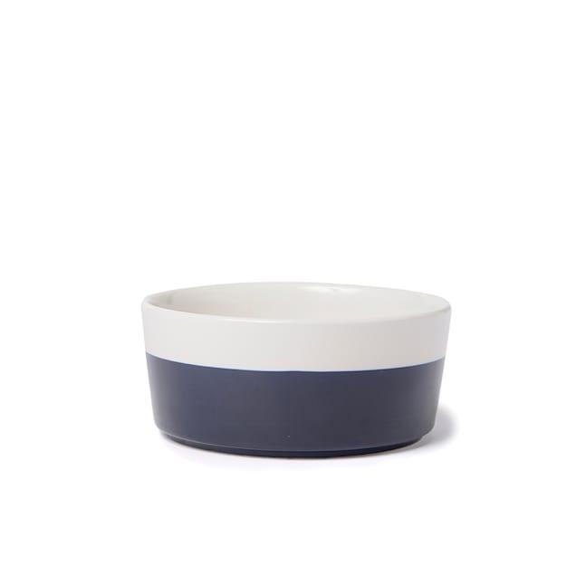 Waggo Midnight Ceramic Dipper Dog Bowl, 8 Cup - Carousel image #1