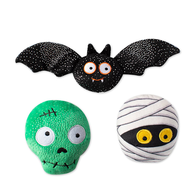 PetShop by Fringe Studio Better off Undead Plush Dog Toy Set, Small, Pack of 3 - Carousel image #1