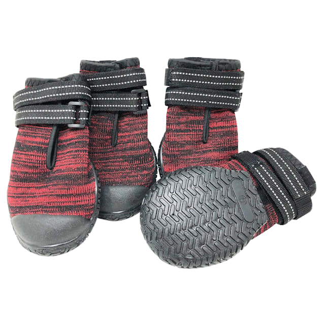 Pet Life Red 'Mud-Trax' Ankle Supporting and Performance Dog Shoes, 3X-Large - Carousel image #1