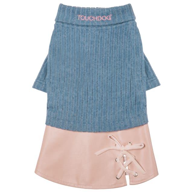 Touchdog Blue 'Modress' Fashion Designer Dog Sweater and Dress, Small - Carousel image #1