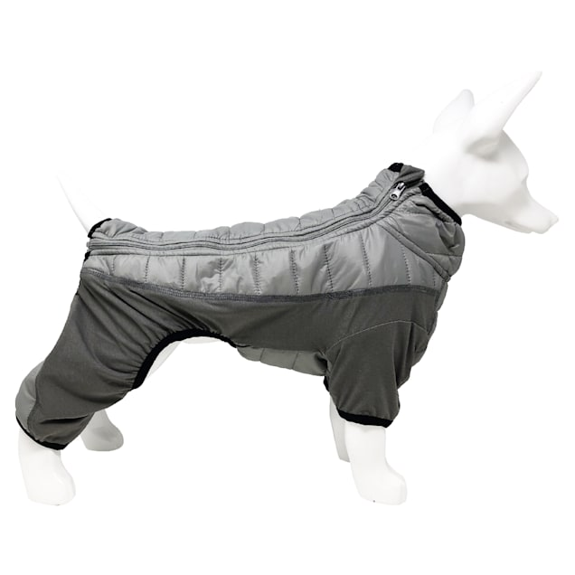Pet Life Grey 'Aura-Vent' Lightweight 4-Season Stretch and Quick-Dry Full Body Dog Jacket, X-Small - Carousel image #1