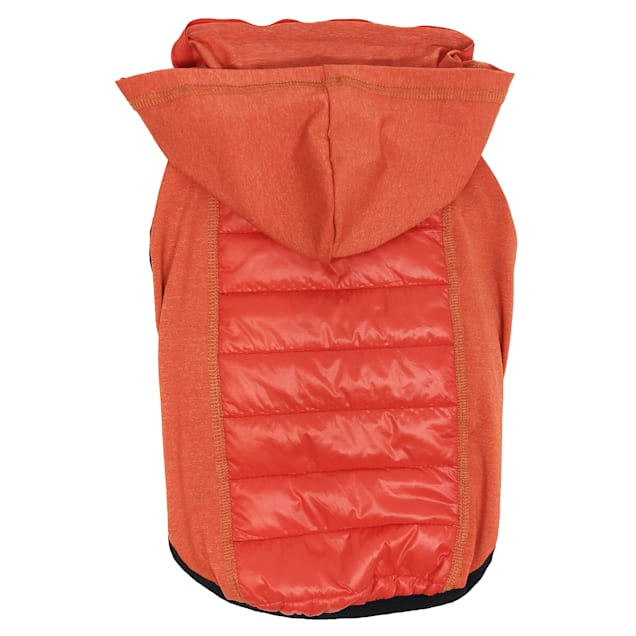 Pet Life Red 'Apex' Lightweight Hybrid 4-Season Stretch and Quick-Dry Dog Coat with Pop Out Hood, X-Small - Carousel image #1