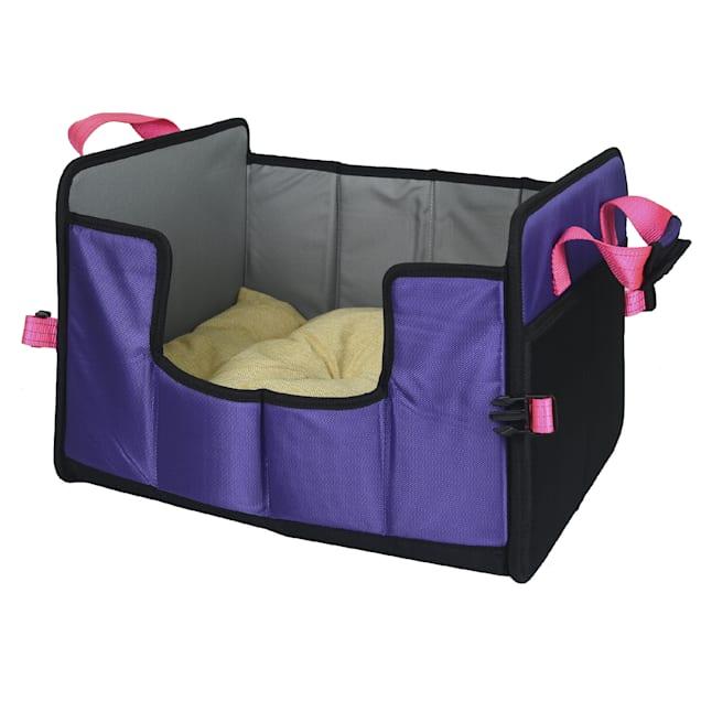 "Pet Life Purple 'Travel-Nest' Folding Travel Cat and Dog Bed, 17.7"" L X 13.7"" W - Carousel image #1"