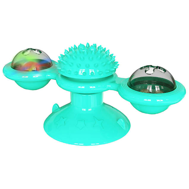 Pet Life Blue 'Windmill' Rotating Suction Cup Spinning Cat Toy - Carousel image #1