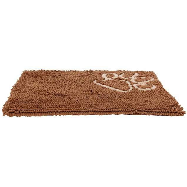 """Pet Life Light Brown 'Fuzzy' Quick-Drying Anti-Skid and Machine Washable Dog Mat, 31"""" L X 21"""" W - Carousel image #1"""