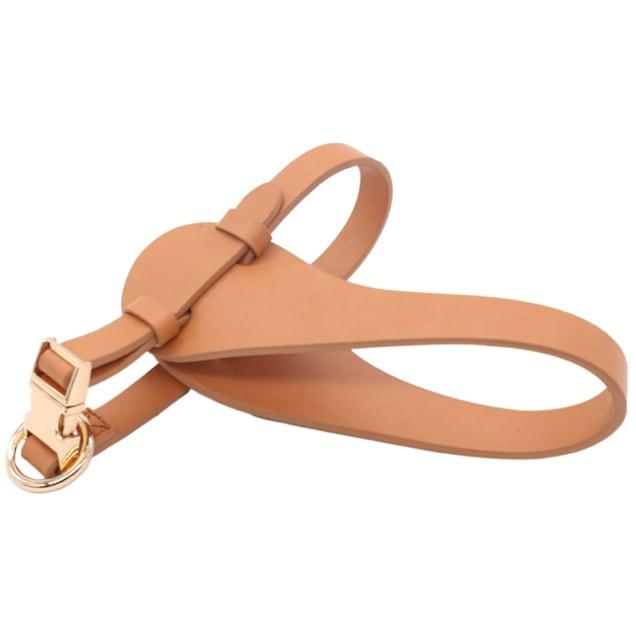 Pet Life Brown 'Ever-Craft' Boutique Series Adjustable Designer Leather Dog Harness, Medium - Carousel image #1