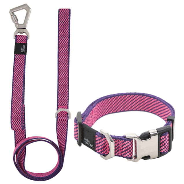 Pet Life Pink 'Escapade' Outdoor Series 2-in-1 Convertible Dog Leash and Collar, Small - Carousel image #1
