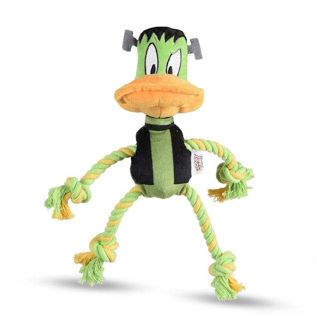 Looney Tunes Daffy Duck Frankenstein Plush Rope Pull Dog Toy, Medium - Carousel image #1